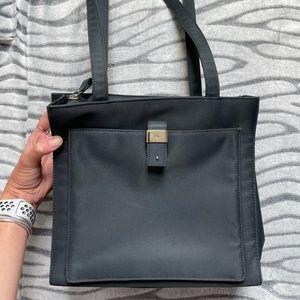 Navy Blue Calvin Klein Nylon Shoulder Bag